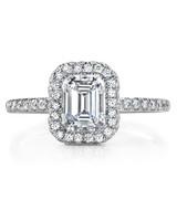 Jean Dousset Emerald-Cut Engagement Ring