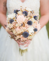 Dried Flower Thistle Bouquet