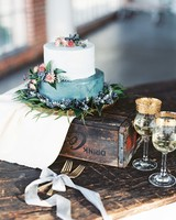 wedding blue white floral
