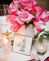 illustrated wedding table number