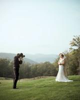 Wedding Photographer Taking Couples Portrait