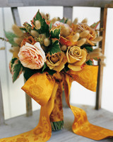 Gold and Blush Wedding Bouquet