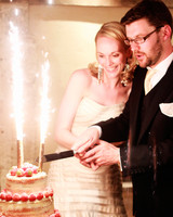 sparkler wedding cake topper