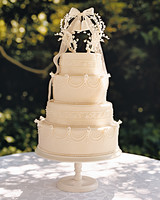 vintage wedding bell wedding cake topper