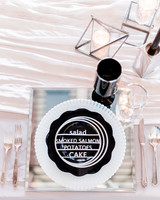 wedding menu placesetting
