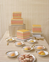 striped wedding cakes