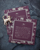 Pet-Themed Wine-Colored Stationery