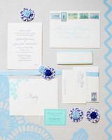 china pattern wedding invitation