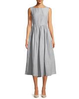 Co High-Neck Sleeveless Linen Dress