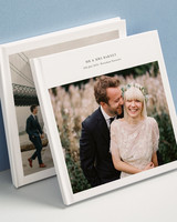 wedding photo albums white cover with square image