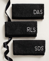 Black Monogrammed Clutches