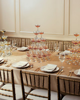 Champagne Tower Centerpieces
