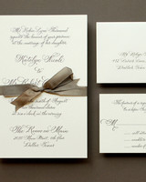 formal calligraphy wedding invitation