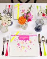 confetti on table setting jessica haley