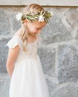 Flower Girl Hairstyle Reverse Braid Side Ponytail