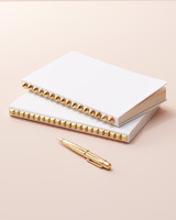 studded wedding guest book