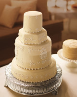 Gold Four-Tiered Wedding Cake