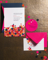 confetti wedding invitation