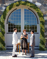 Leafy Green Wedding Arch