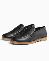 ring bearer shoes black leather loafers