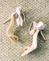 beth john wedding brides pastel pink shoes