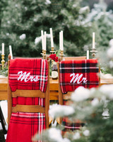 Chair Decor Mr. and Mrs. Blankets