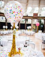 confetti balloon centerpiece joanna bongard