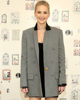 jennifer lawrence wearing long blazer