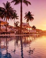 sunset resort pool