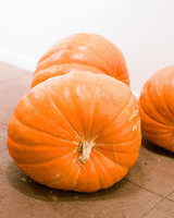 Three Large Pumpkins