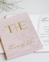 vow books pale pink monogram booklet