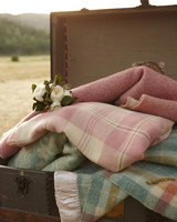 Pink and Blue Plaid Throw Blankets