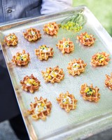 25 unexpected wedding food ideas your guests will love martha mini savory waffles junglespirit Choice Image