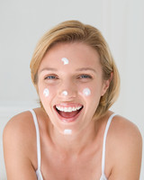 face skin with moisturize