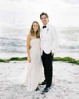 beth john wedding couple on beach