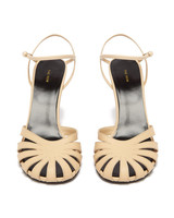 cut-out leather sandals bridesmaid shoes