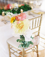Chair Decor Oversized Flowers