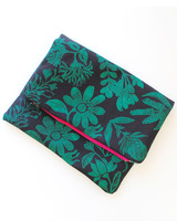 Stamped Fabric Clutch