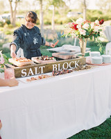 dianna amar wedding food salt block buffet