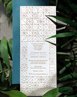eleanor and jacques geometric wedding invitation