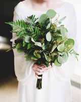 Fern Wedding Bouquets, All Ferns and Eucalyptus