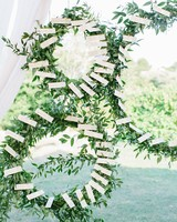 hoop decoration place card