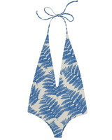 Deep Neck Palm Print Bikini