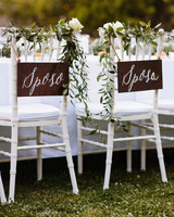 mr and mrs italian signs sposo and sposa white lettering