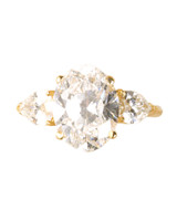 Oval Yellow Gold Engagement Ring