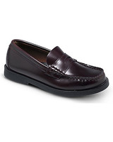 ring bearer shoes black leather boat shoes
