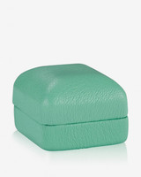 ring boxes leather mint green box