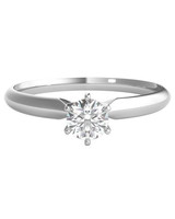 round cut ring white gold band