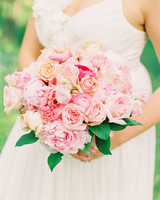 Rose and Peony Wedding Bouquet
