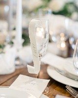 scroll-decorated Champagne glasses